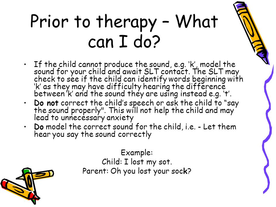 Prior to therapy – What can I do