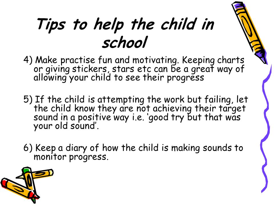 Tips to help the child in school