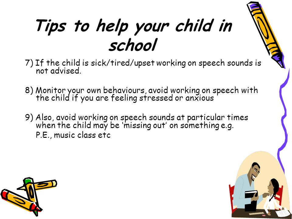 Tips to help your child in school