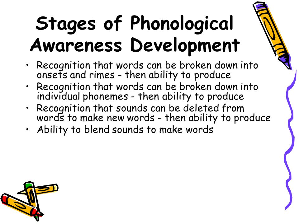 Stages of Phonological Awareness Development