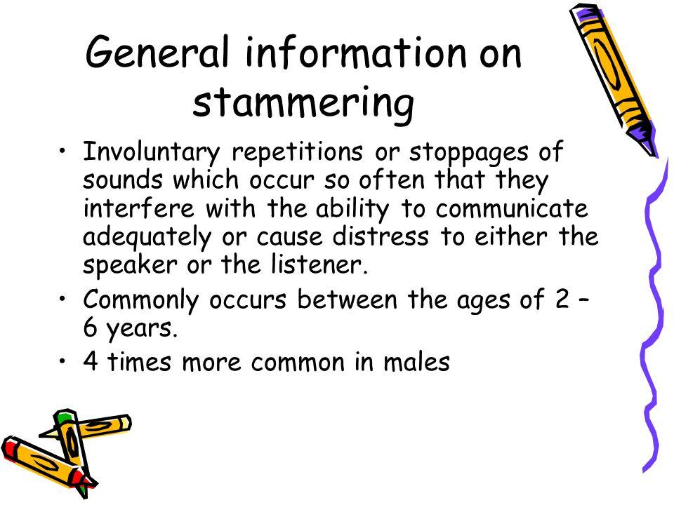 General information on stammering