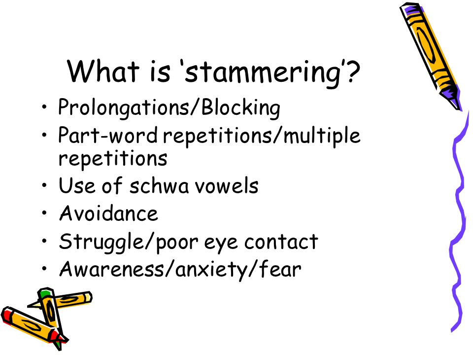 What is 'stammering' Prolongations/Blocking