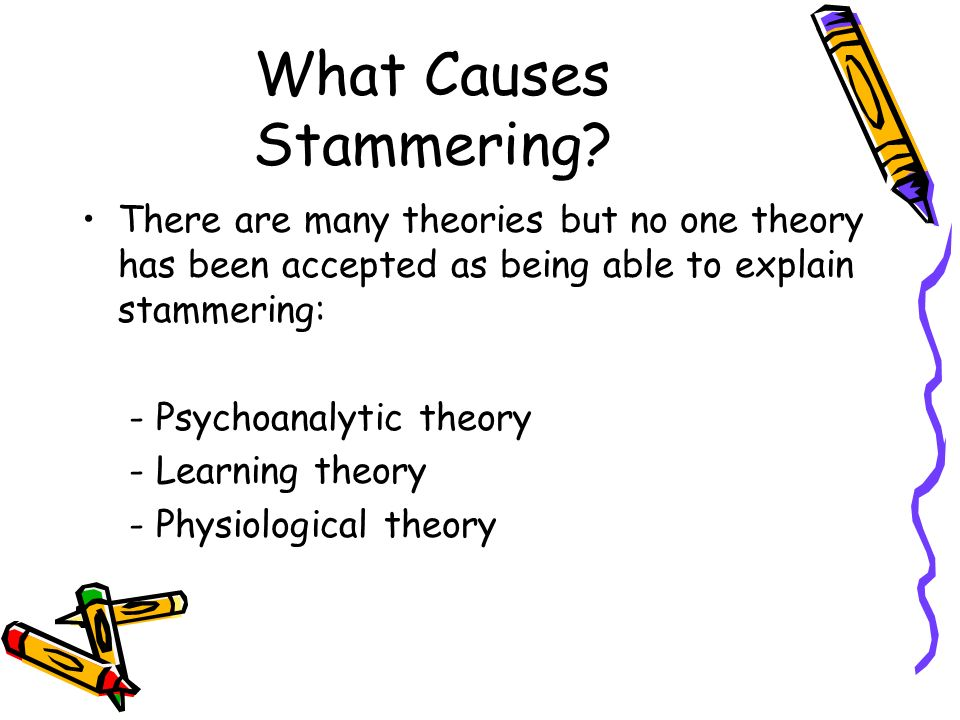 What Causes Stammering