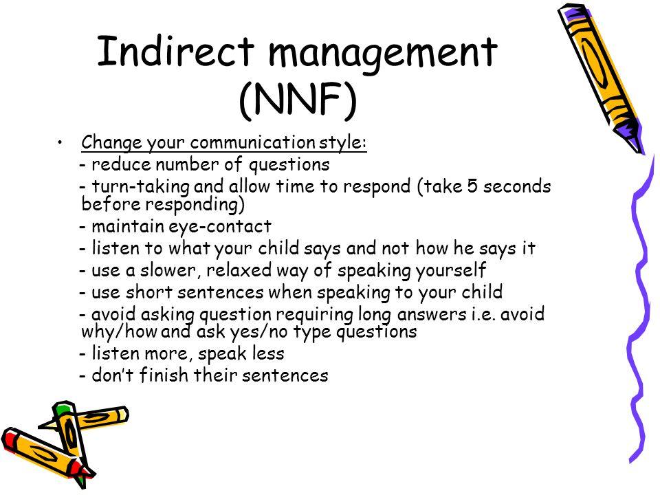 Indirect management (NNF)