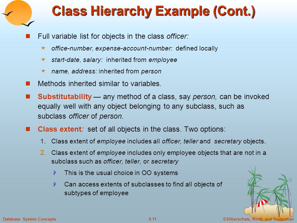 Class Hierarchy Example (Cont.)