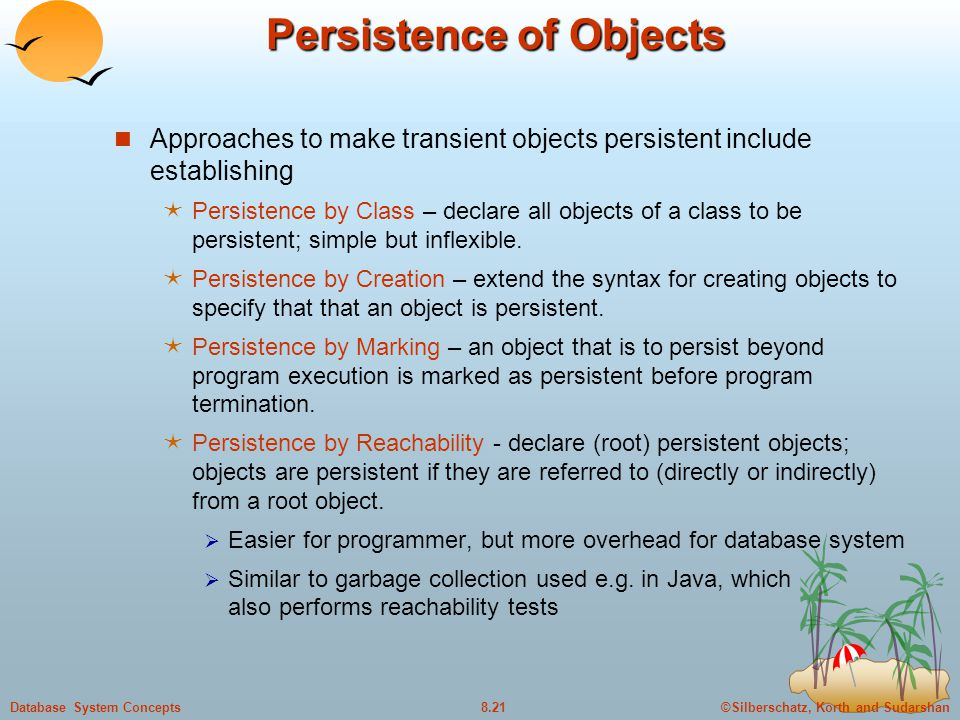 Persistence of Objects