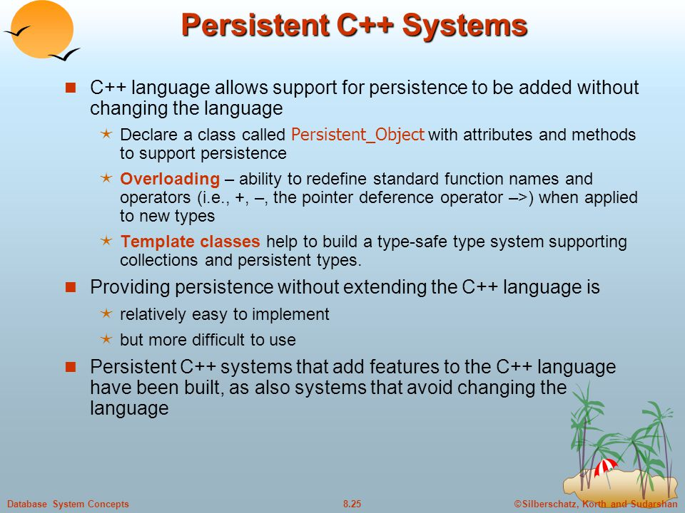 Persistent C++ Systems