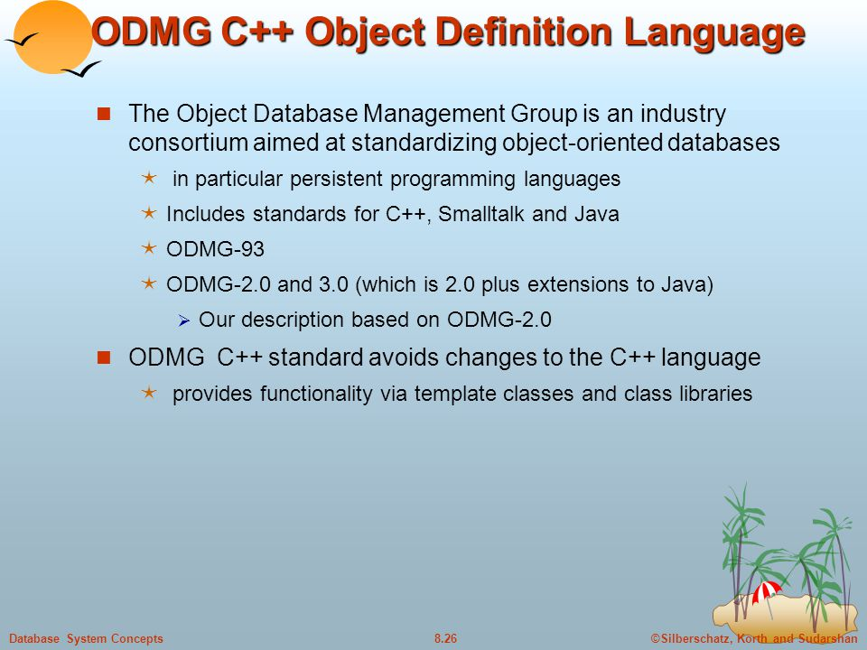 ODMG C++ Object Definition Language