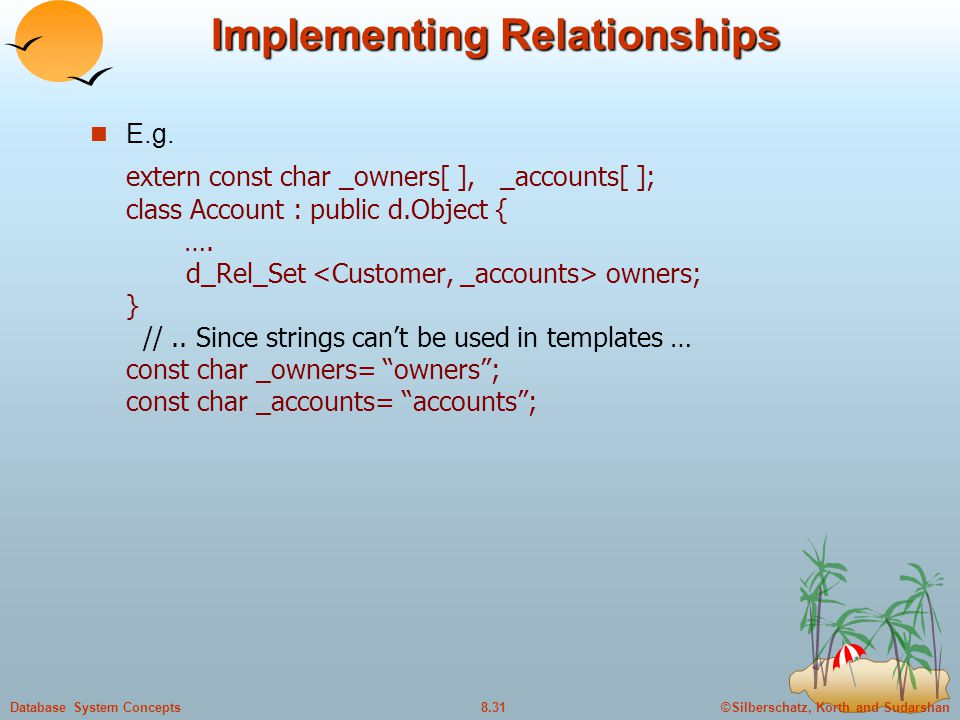 Implementing Relationships