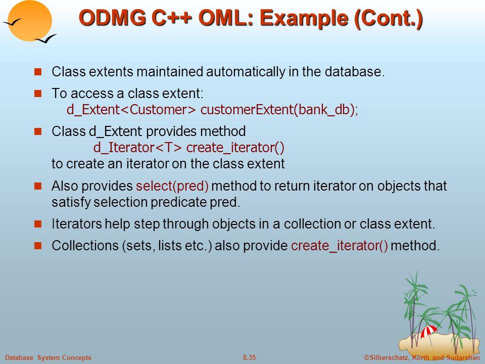 ODMG C++ OML: Example (Cont.)