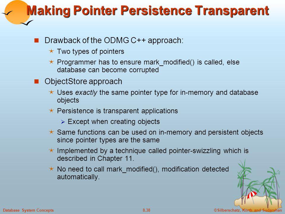 Making Pointer Persistence Transparent