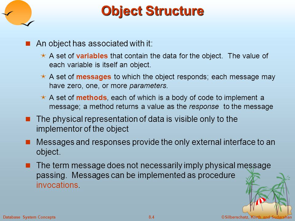 Object Structure An object has associated with it: