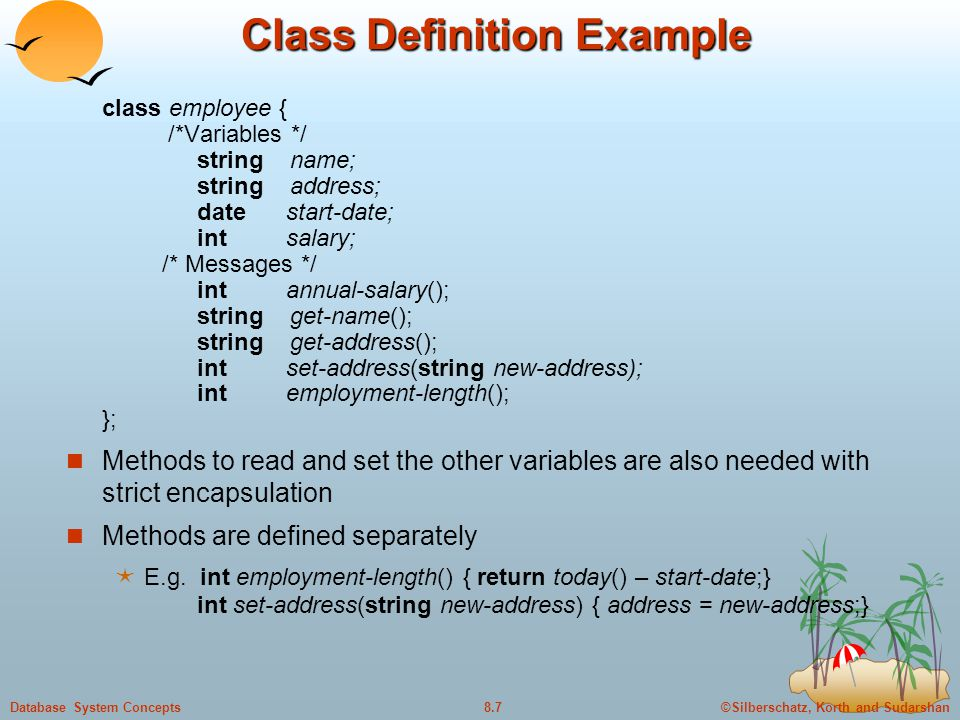 Class Definition Example