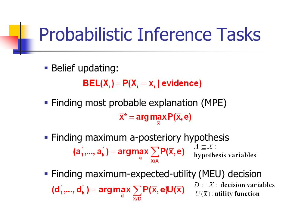 Probabilistic Inference Tasks