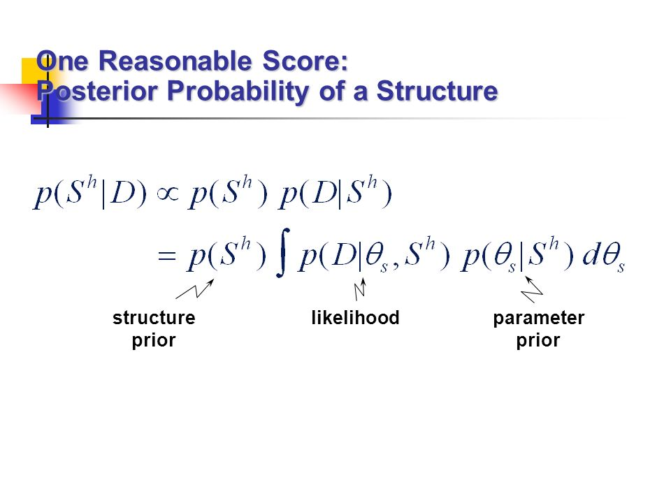 One Reasonable Score: Posterior Probability of a Structure