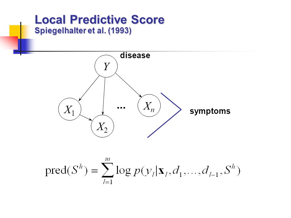 Local Predictive Score Spiegelhalter et al. (1993)