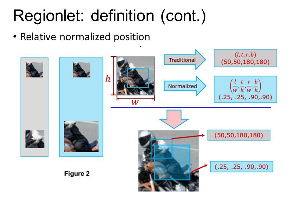 Regionlet: definition (cont.)