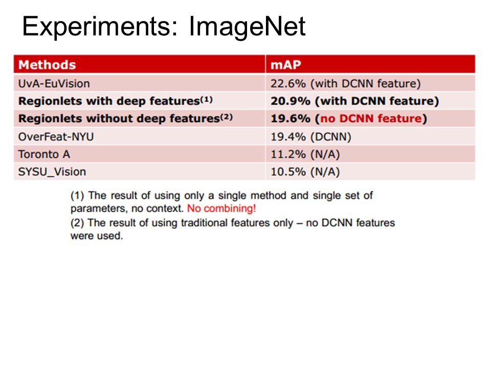 Experiments: ImageNet