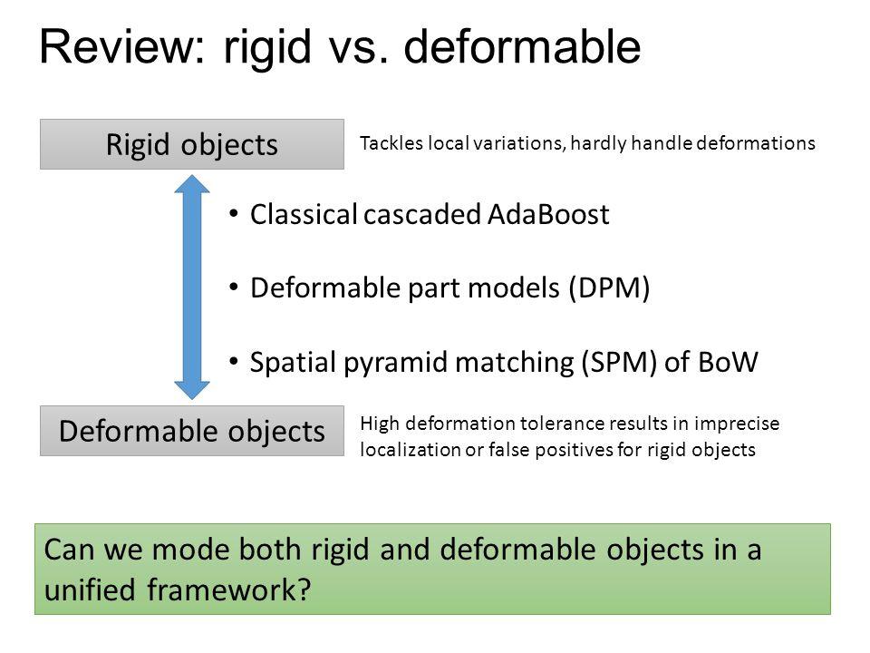 Review: rigid vs. deformable