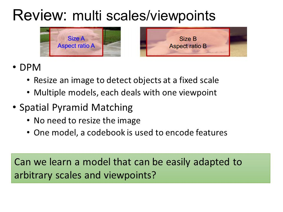 Review: multi scales/viewpoints
