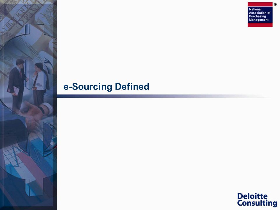 e-Sourcing Defined