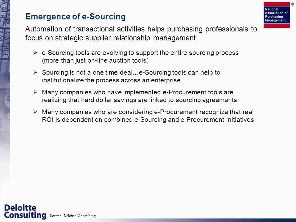 Emergence of e-Sourcing