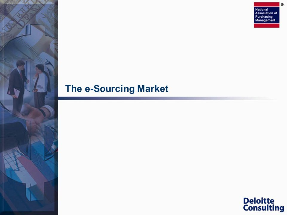 The e-Sourcing Market