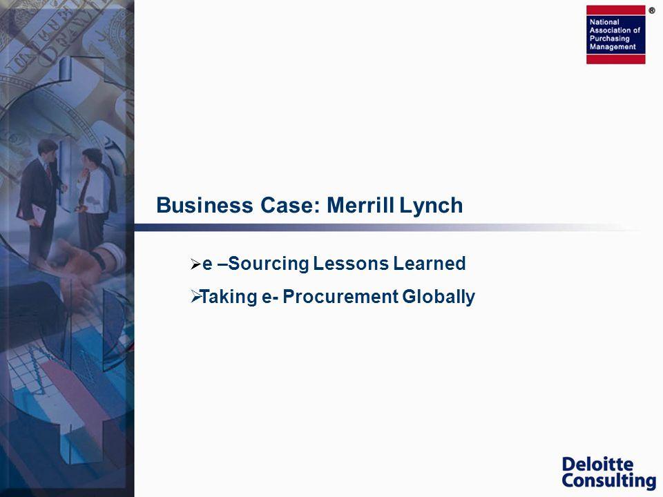 Business Case: Merrill Lynch