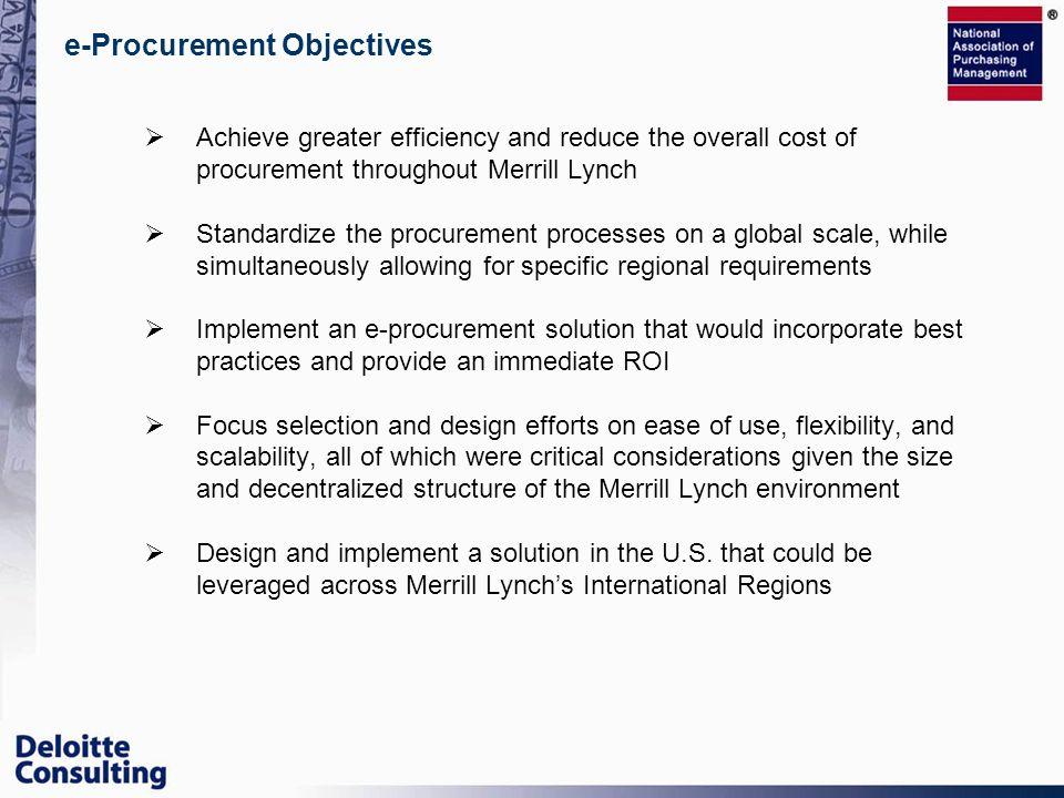 e-Procurement Objectives
