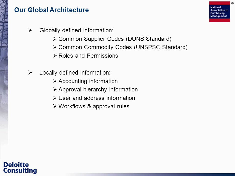 Our Global Architecture
