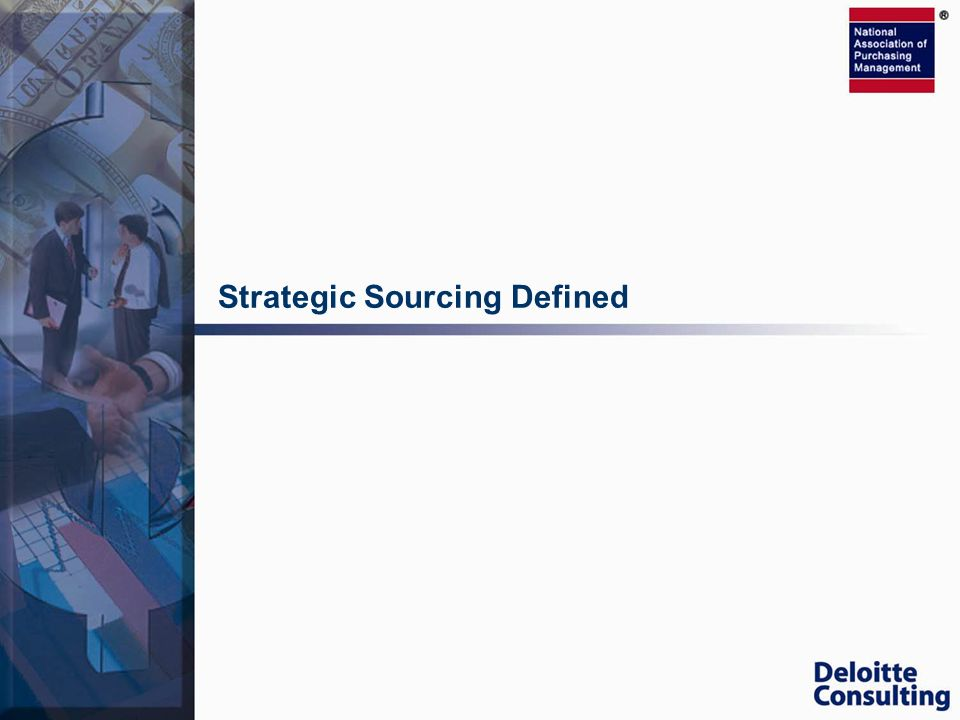 Strategic Sourcing Defined
