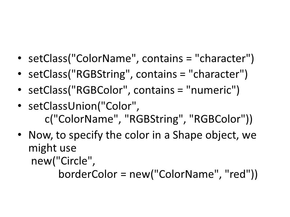 setClass( ColorName , contains = character )