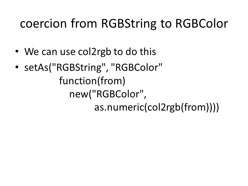 coercion from RGBString to RGBColor