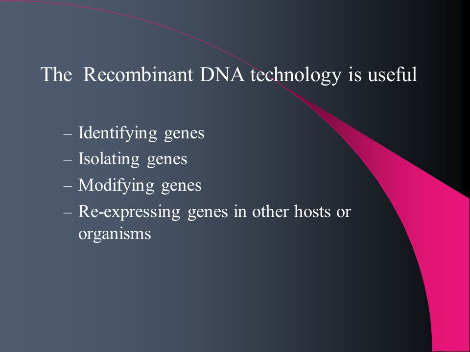 The Recombinant DNA technology is useful