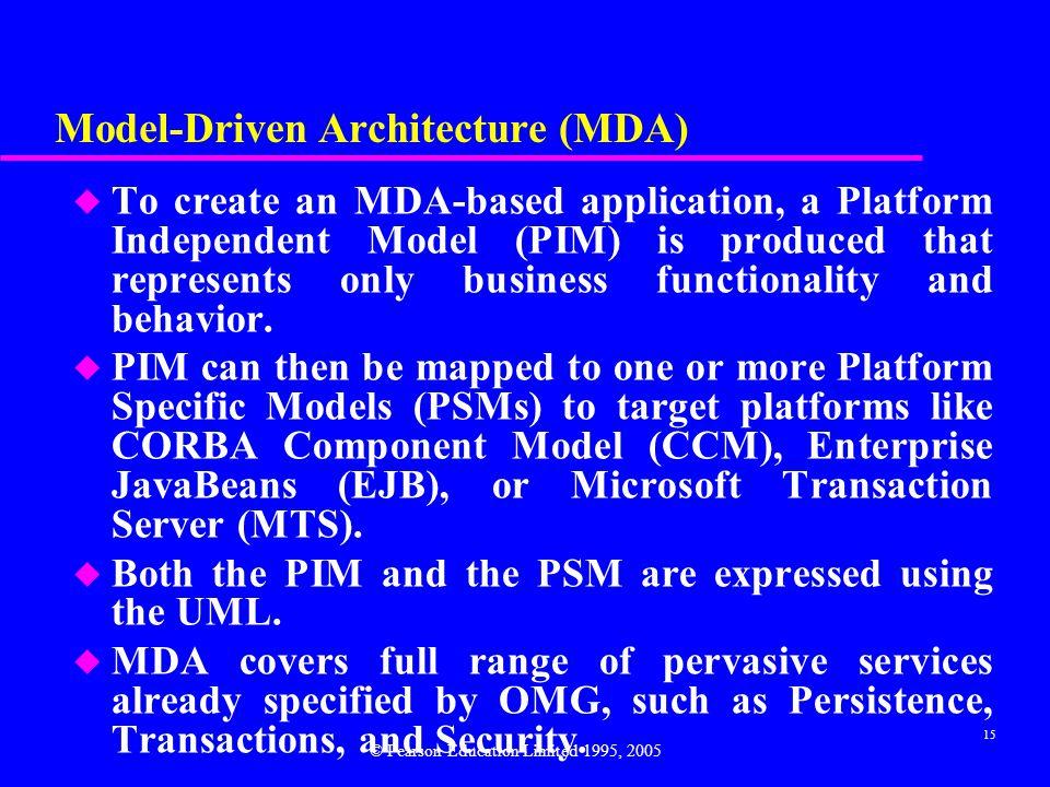 Model-Driven Architecture (MDA)