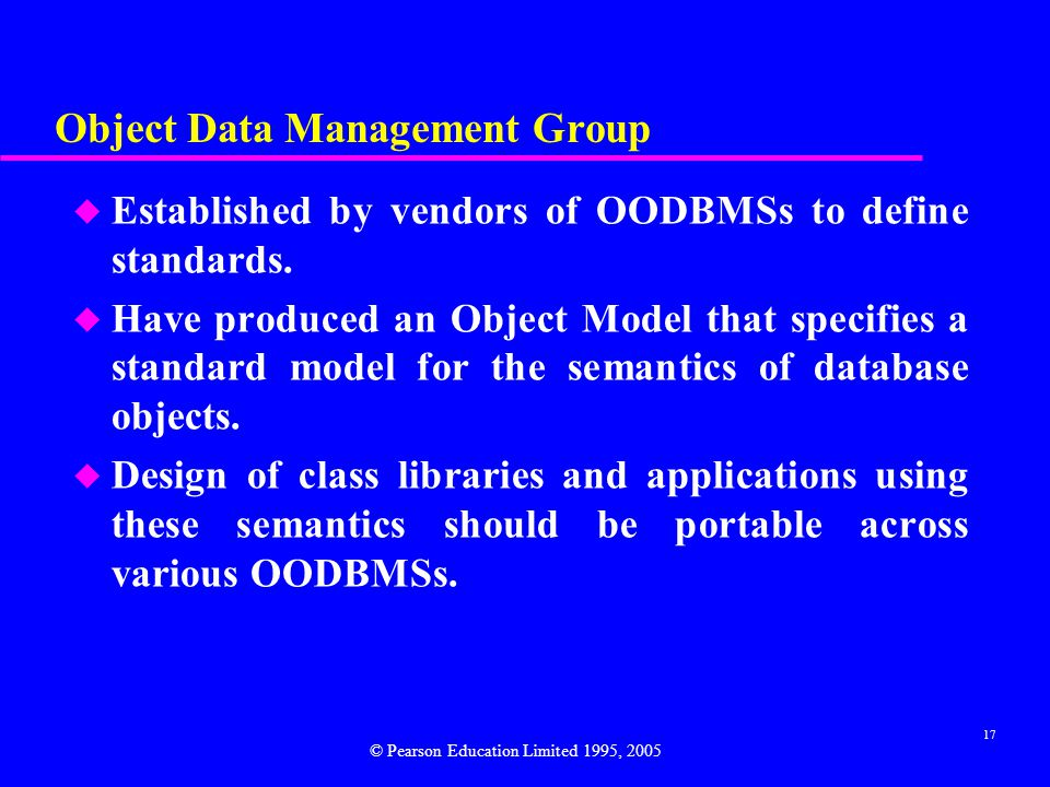 Object Data Management Group
