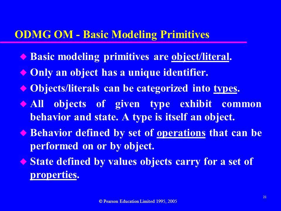 ODMG OM - Basic Modeling Primitives