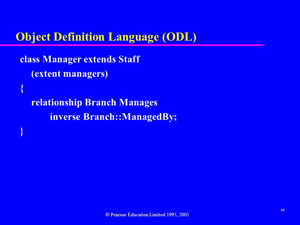 Object Definition Language (ODL)