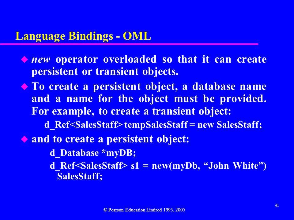 Language Bindings - OML