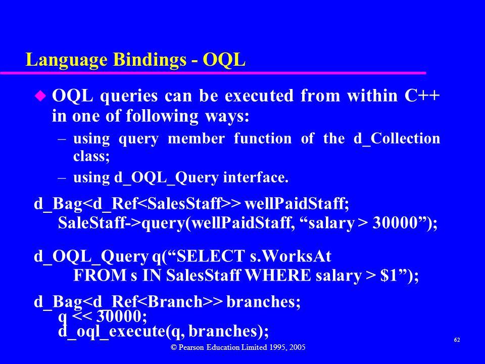 Language Bindings - OQL