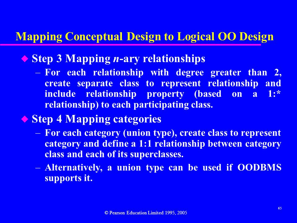 Mapping Conceptual Design to Logical OO Design