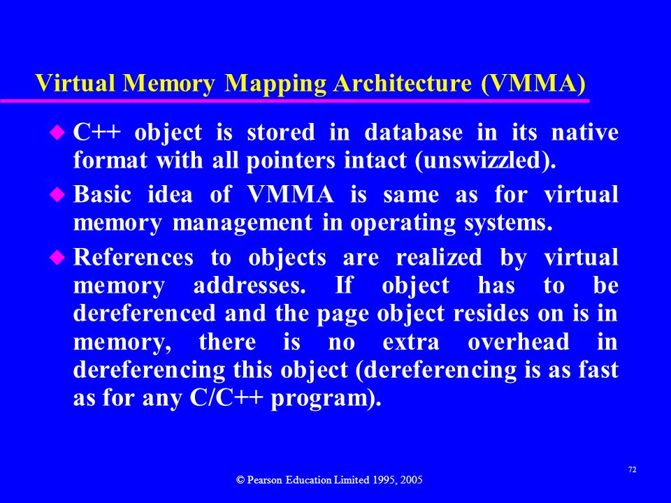 Virtual Memory Mapping Architecture (VMMA)