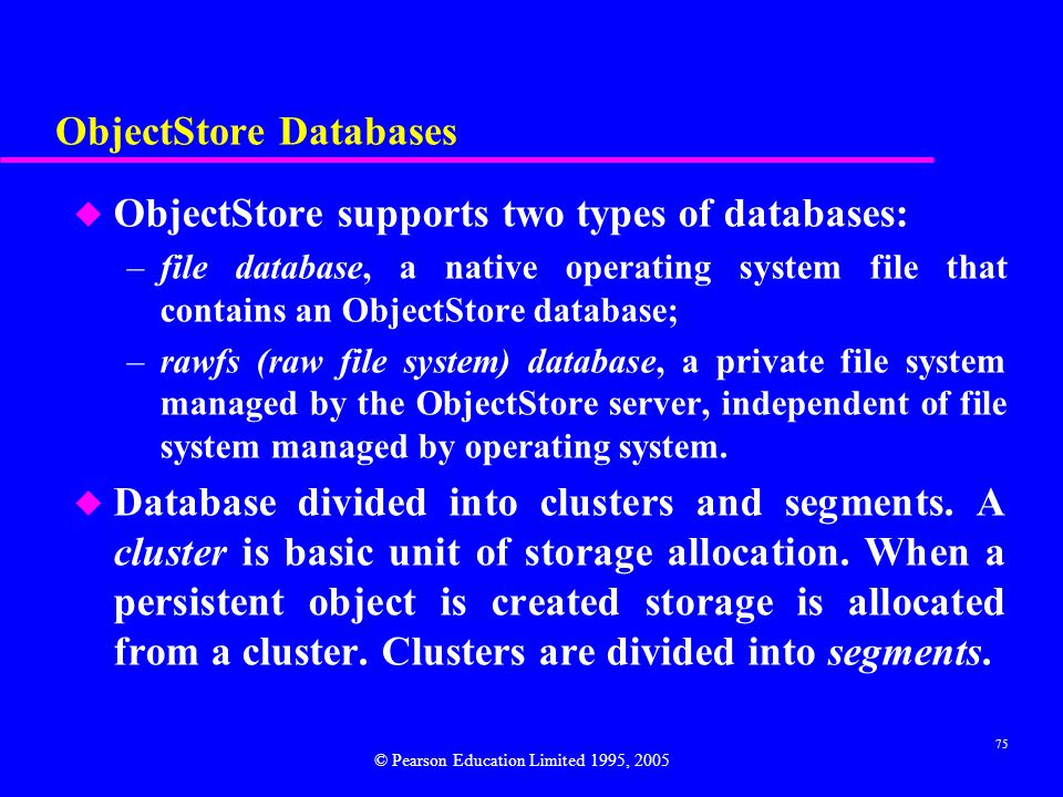 ObjectStore Databases