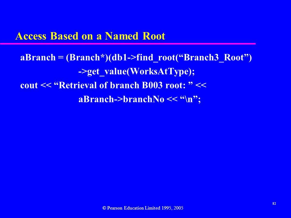 Access Based on a Named Root