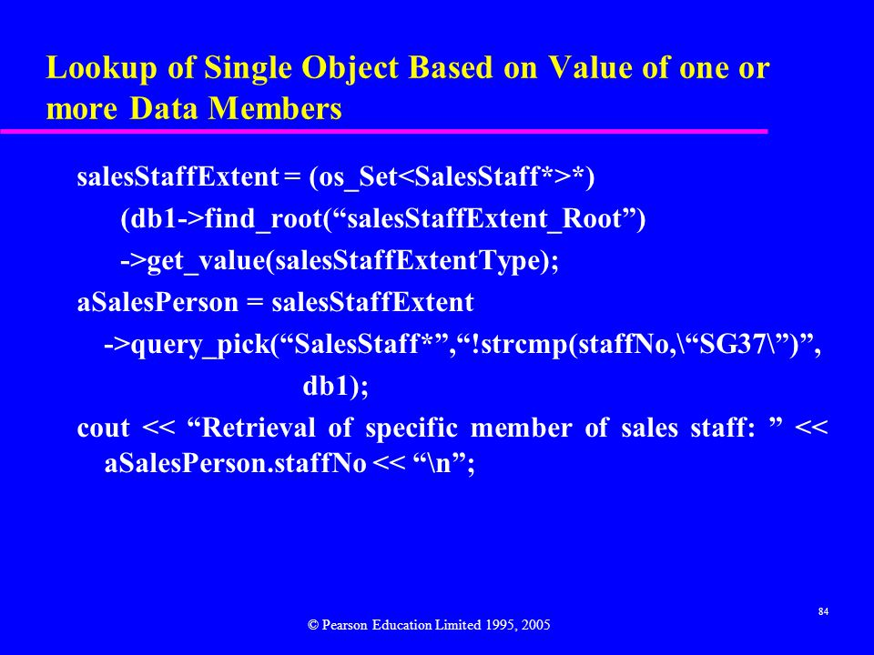 Lookup of Single Object Based on Value of one or more Data Members