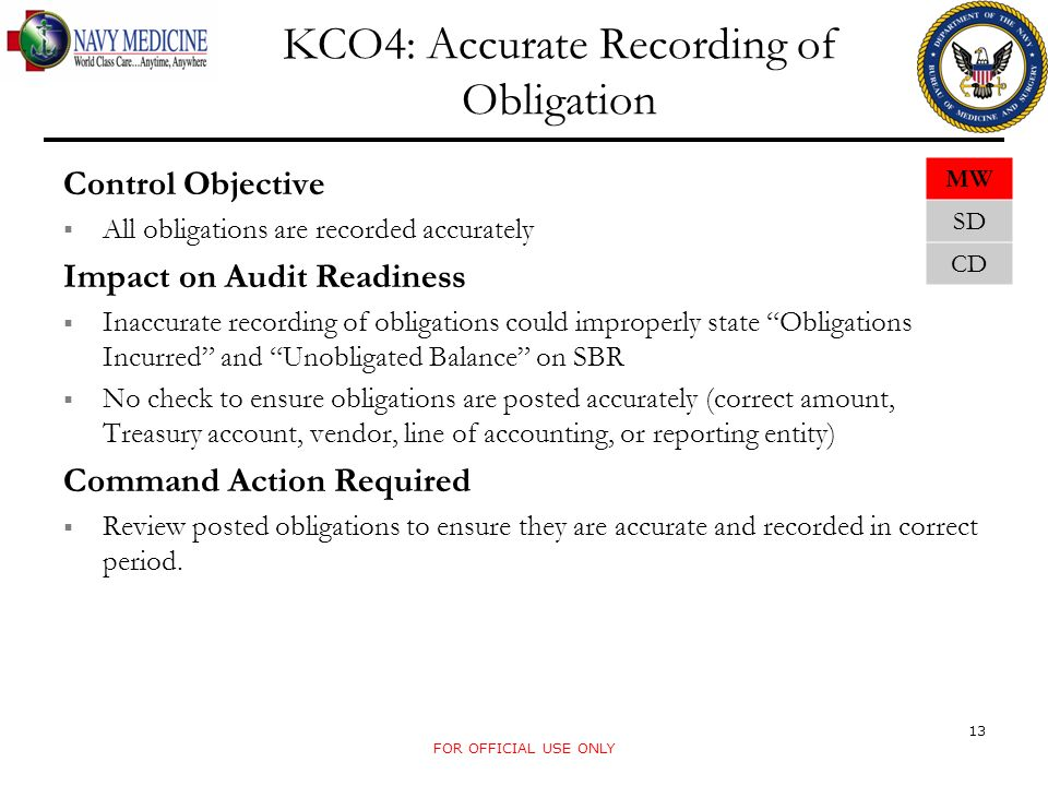 KCO4: Accurate Recording of Obligation