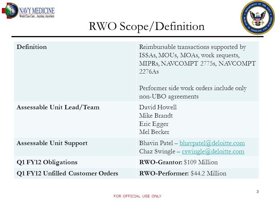 RWO Scope/Definition Definition