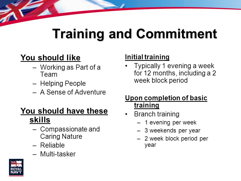 Training and Commitment