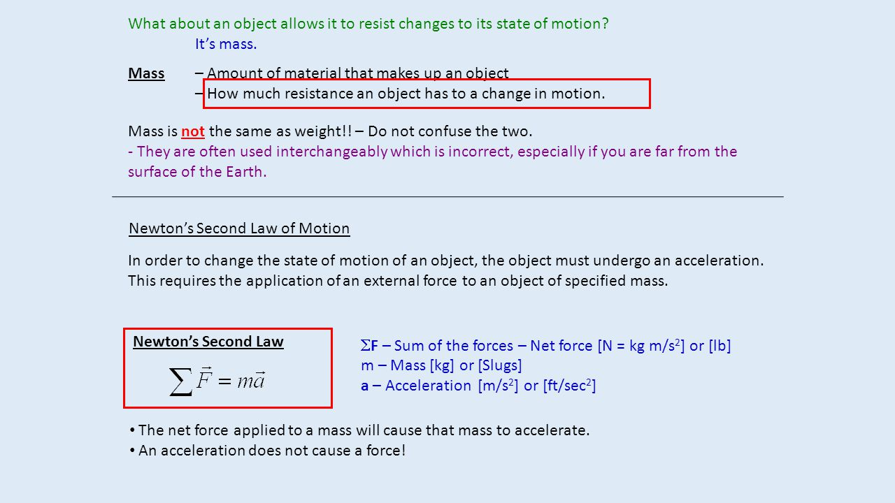 What about an object allows it to resist changes to its state of motion