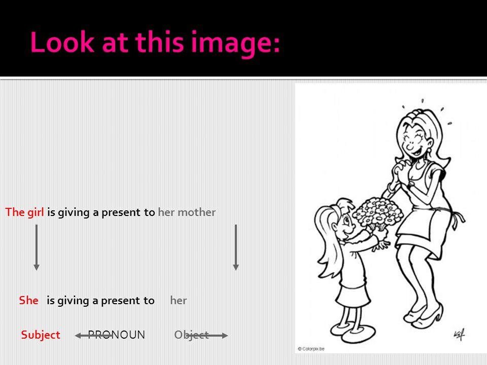 Look at this image: The girl is giving a present to her mother